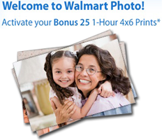 Walmart Photo 25 FREE 1 Hour 4X6 Prints at Walmart