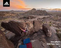 Adidas Rock Climbing Poster