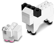 LEGO Lamb FREE LEGO Lamb Mini Model Build at LEGO Stores on April 2nd
