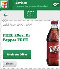 Dr Pepper 7 Eleven FREE 20 oz Dr Pepper and Cracker Jack'd Product at 7 Eleven