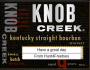 Knob Creek Liquor Bottle Gift Labels