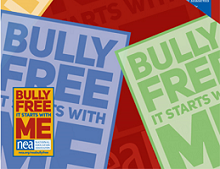 Bully FREE Poster and Pin FREE Bully FREE Pin, Poster and Sticker