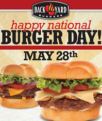 FREE Classic Burger at Back Yard Burgers FREE Classic Burger at Back Yard Burgers on May 28th
