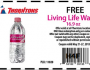 FREE Living Life Water at Thorntons