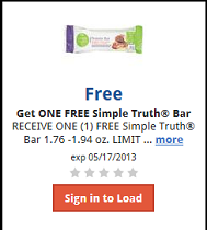 FREE Simple Truth Bar FREE Simple Truth Bar at Kroger Stores