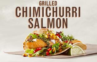 Grilled Chimichurri Salmon Taco