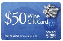 NakedWines Gift Card FREE $50 NakedWines.com Gift Card