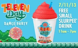 7 11 Slurpee FREE Small Slurpee Drink at 7 Eleven on 7/11