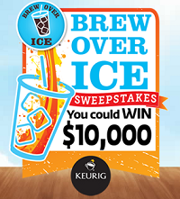 Brew Over Ice Sweepstakes FREE Brew Over Ice Variety K Cup Sampler Pack Instant Win Game