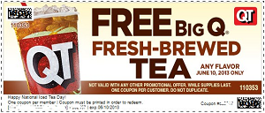 FREE iced tea at Quiktrip on J...