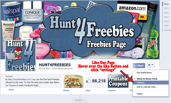 Facebook Feed How to See ALL of Hunt4Freebies Posts in Your Facebook Newsfeed
