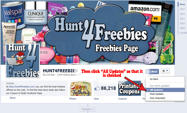 Facebook Feed1 How to See ALL of Hunt4Freebies Posts in Your Facebook Newsfeed