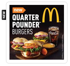 MCR McDonalds Quarter Pounder Burger FREE McDonalds Quarter Pounder Burger for 50 My Coke Rewards Points