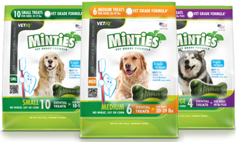 Minties Dental Treats FREE Minties Dental Treats For Dogs Mailed Coupon