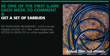 Ear Buds FREE Earbuds From Marlboro