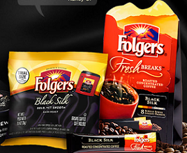FREE Folgers black silk coffee...
