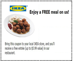Ikea Meal FREE Meal at IKEA Store