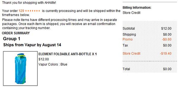 AHAlife Order FREE $20 Ahalife Credit = FREE Item