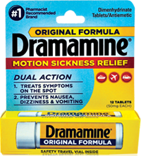 Dramamine FREE Sample of Dramamine
