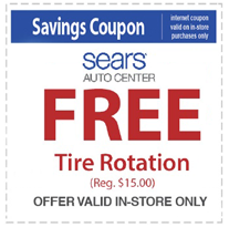 Tire Rotation Coupon >> Free Tire Rotation At Sears Auto Center 15 Value Hunt4freebies