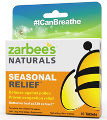 ZarBees Naturals Seasonal Relief FREE ZarBees Naturals Seasonal Relief Sample