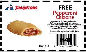 FREE Pepperoni Calzone at Thorntons