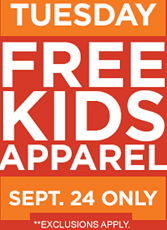 FREE Piece of Kids Apparel at Sears