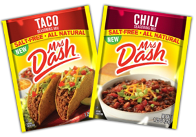 Mrs Dash Taco or Chili Seasoning Mix FREE Mrs. Dash Seasoning Mix Sample Packs at Noon EST