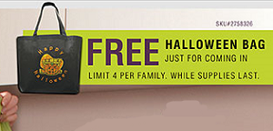 FREE Halloween Bag at RC Willey