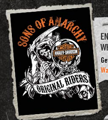Harley Davidson Sons of Anarchy sticker FREE Harley Davidson Sons of Anarchy Sticker