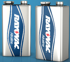 2-Pack of 9V Rayovac Batteries