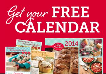 FREE 2014 Calendar for Betty Crocker Members   Hunt4Freebies