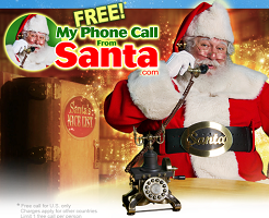 Santa FREE Personalized Phone Call and Video Messages From Santa