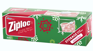 Ziploc Limited Edition Holiday Slider Bags