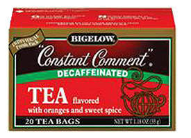 Constant Comment tea FREE Sample of Bigelow Tea
