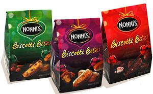 Nonnis Holiday Biscotti Bites