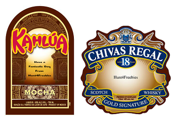 Gift Labels FREE Chivas Regal, Kahlua and The Glenlivet Personalized Gift Labels