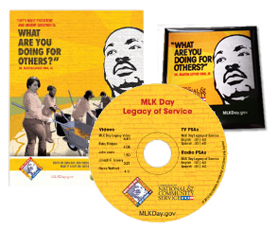 MLK Day FREE MLK DVD, Posters, Stickers, Bookmarks, Door Hangers + More