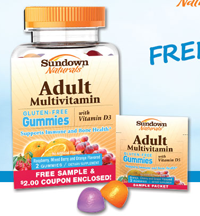 Sundown Natural Adult Multi Gummy FREE Sundown Natural Adult Multi Gummy Sample Packet