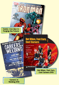 Welding Careers Magazine and DVD FREE Comic Book, DVD, and Magazine