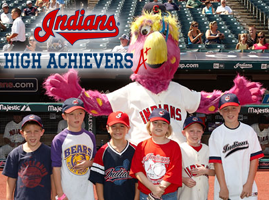 Cleveland Indians High Achievers FREE Cleveland Indians High Achievers Baseball Kids Club