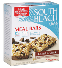 South Beach Diet Meal Bars FREE 5ct Box of South Beach Diet Meal Bars at Kroger & Affiliate Stores