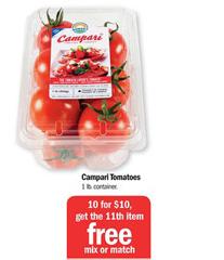 Campari Tomatoes FREE Campari Tomatoes at Meijer