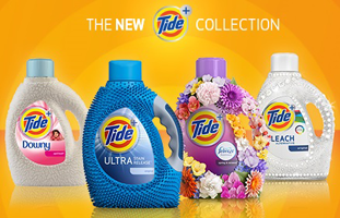 New Tide FREE Tide+ Collection Mini Laundry Detergent Sample