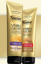 Suave Professionals Visible Glow Self-Tanning Lotion