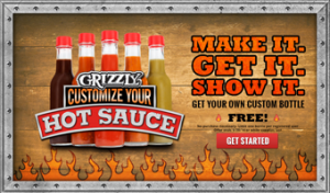 hotsauce 300x176 FREE Custom Bottle Of Hot Sauce from Grizzly