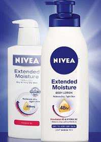 Nivea Extended Moisture FREE Nivea Lotion Samples