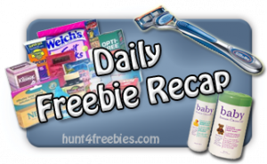 Daily Recap Daily Freebies, Coupons and Sweepstakes Recap
