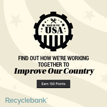 Insiders 20140706 MadeInTheUSA 150 NEW FREE RecycleBank Points