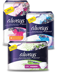 Always Discreet FREE Always Product Sample Pack
